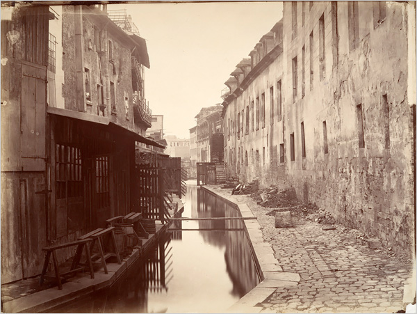 La Bièvre, 1865, one of the earliest surviving photographs. Photo: Charles-Marville Metropolitan Museum of Art