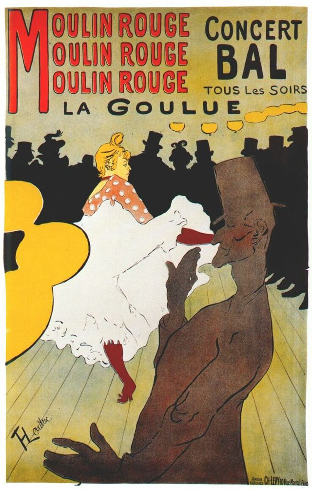 1891 Moulin Rouge Poster by Toulouse Lautrec
