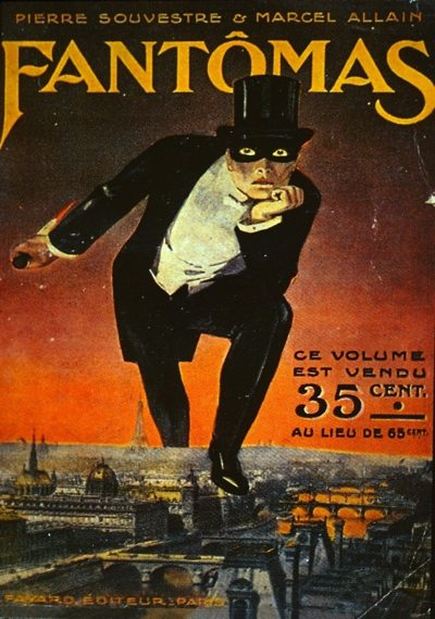 The cover of the first Fantômas novel, published in 1911.